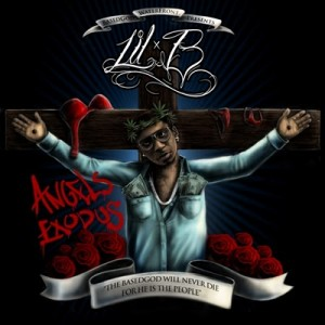 "Lil B's alter ego ""Based God"" crucified Source"