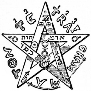 The upright pentagram drawn by Eliphas Levi Source