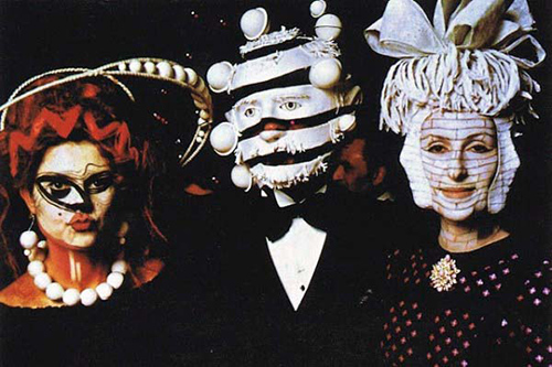 Masks at the Rothschilds 1972 ball Source