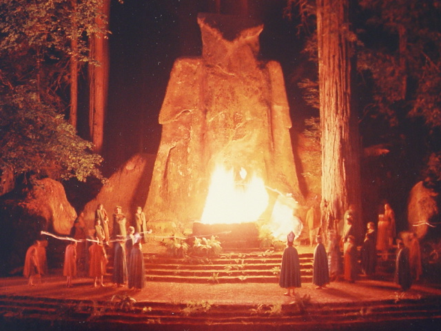 Elite members of society sacrifice care to a giant owl deity in a ceremony linked to the music industry Source