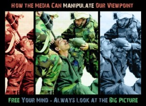 Manipulating the way an image is presented can totally change it's meaning Source