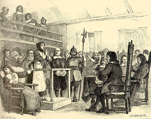 Martha Corey, a 72 year old women falsely accused of witchcraft during the Salem witch trials