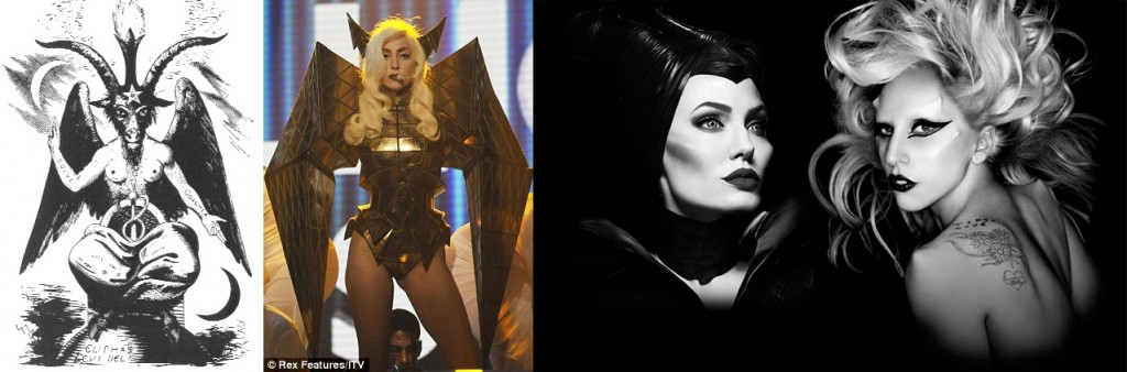 Angelina Jolie was inspired by Lady Gaga for Maleficent's appearance. Lady Gaga has often dressed or posed as Baphomet