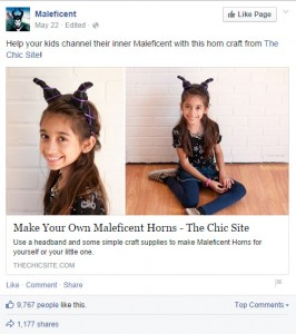 Facebook suggesting parents help their kids channel their dark side
