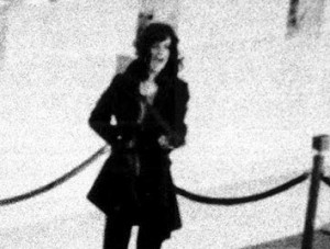 Patty Hearst yelling commands at bank customers