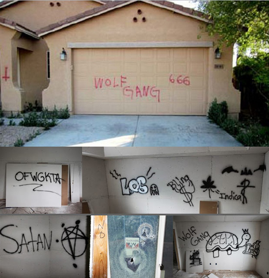 Graffiti by Odd Future (Top) Source Graffiti inspired by Odd Future (Bottom) Source