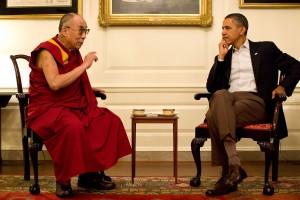 President Barack Obama meeting with the Dalai Lama